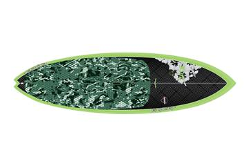 Fish 8'11 x 30 Carbon Green