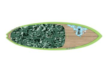 Fish 8'11 x 32 Bamboo Green